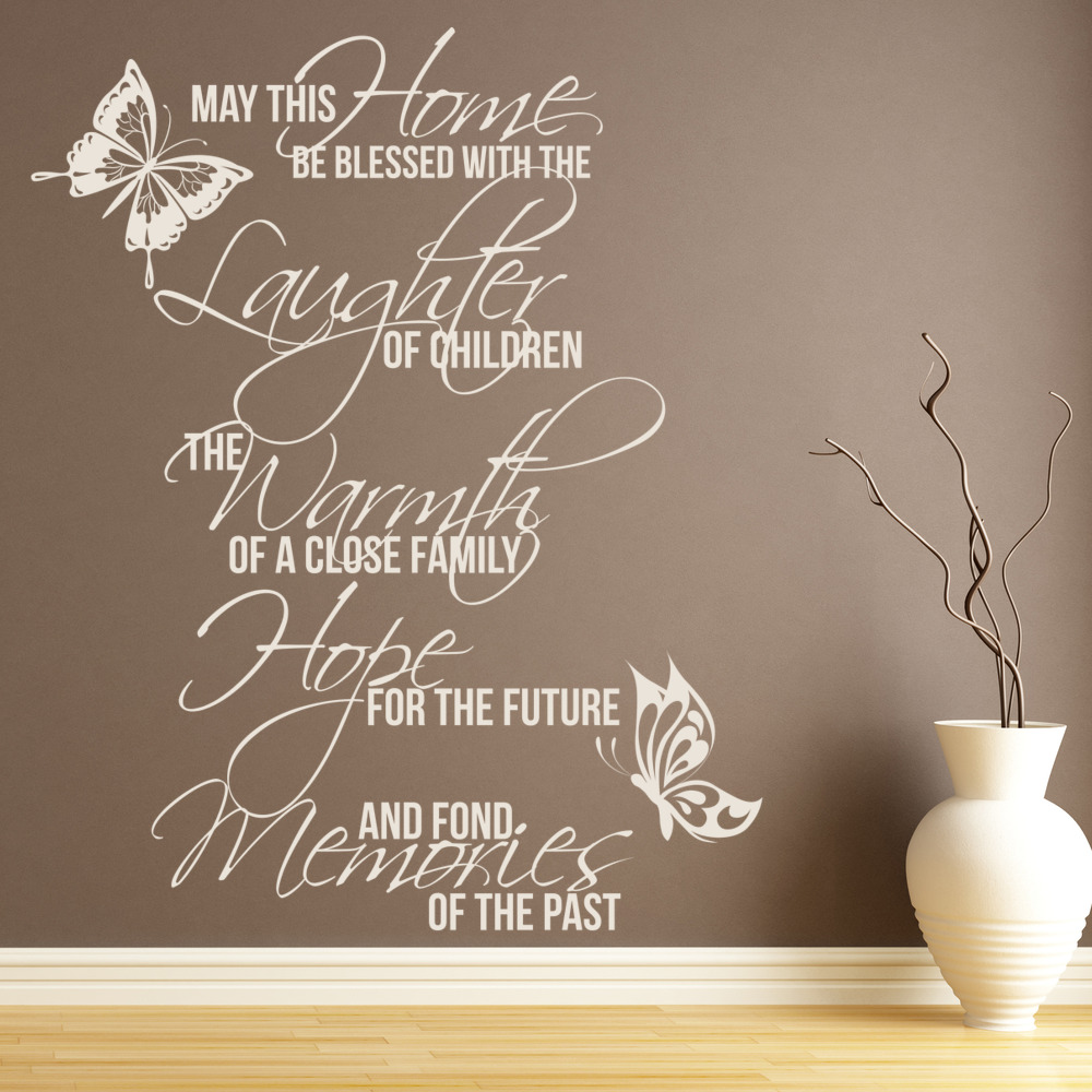 May This Home Be Blessed Wall Stickers Quote Wall Art
