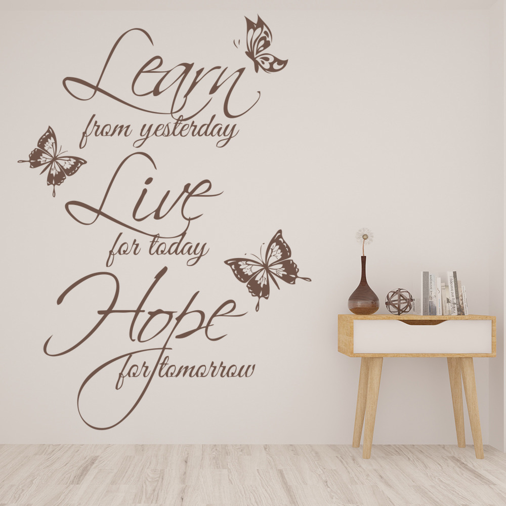 Learn Live Hope Wall Sticker Quote Wall Art