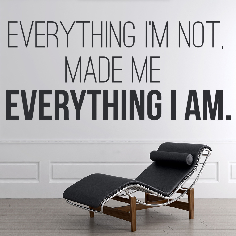 Kanye West Wall Sticker Everything I'm Not Wall Art