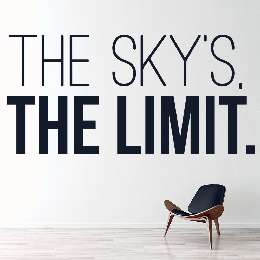 Notorious Big Wall Sticker The Sky's The Limit Wall Art