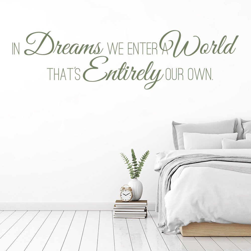 In Dreams We Enter A World… Life And Inspirational Quote Wall Sticker Art Decals