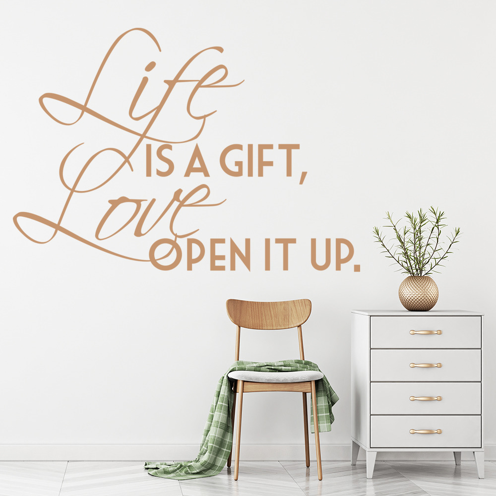 Life Is A Gift Jay-Z Lyrics Love Quotes Wall Stickers Home Decor Art Decals