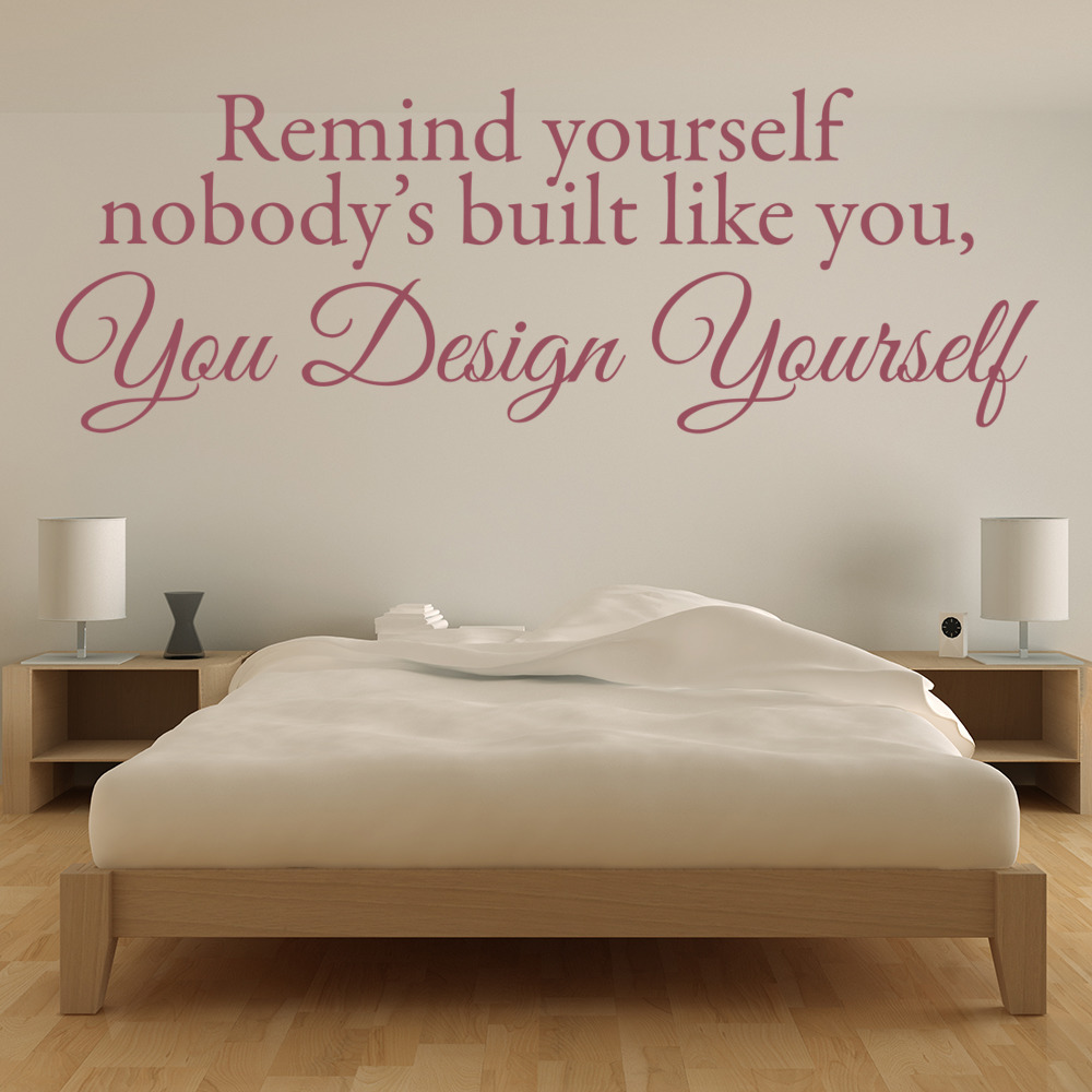 You Design Yourself Wall Sticker Quote Wall Art