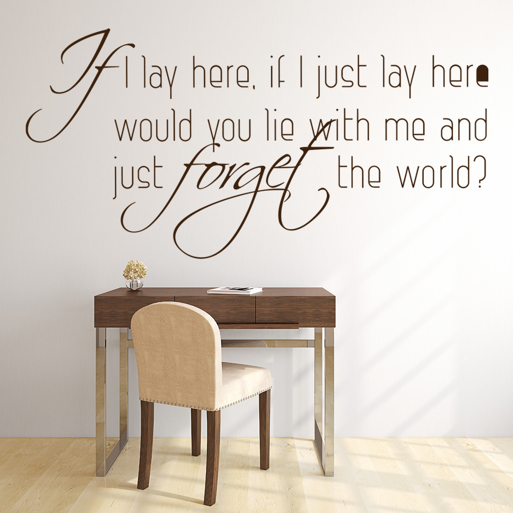 Snow Patrol Wall Art Lyrics Wall Stickers