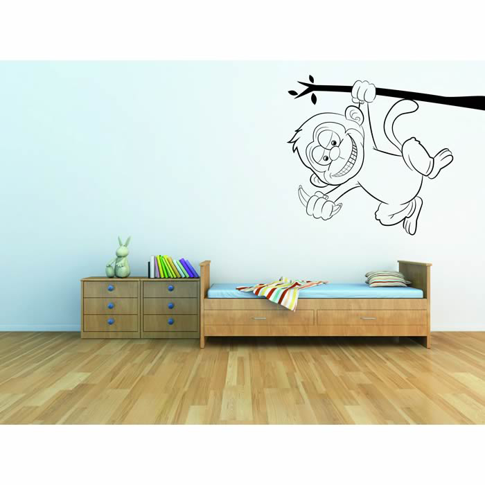 Monkey On A Branch Wall Art Monkey Wall Sticker