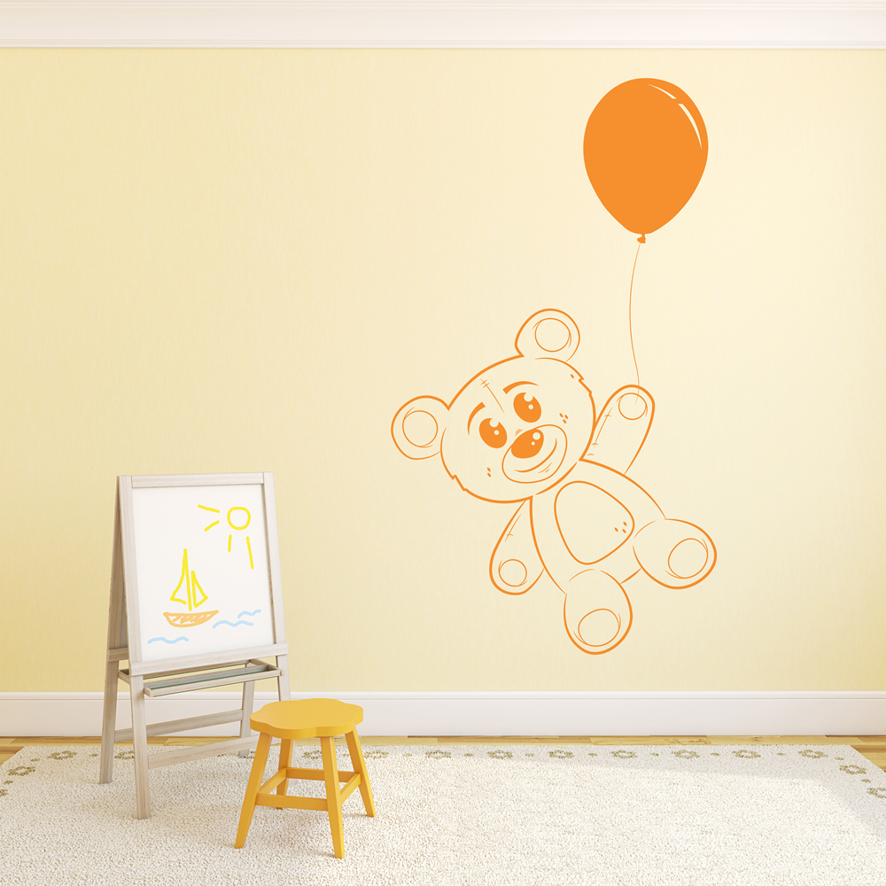 Teddy Bear With Balloon Wall Art Teddy Bear Wall Stiicker