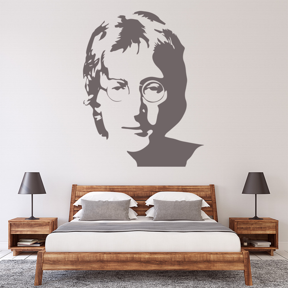 John Lennon Beatles Portrait Icons & Celebrities Wall Stickers Home Art Decals