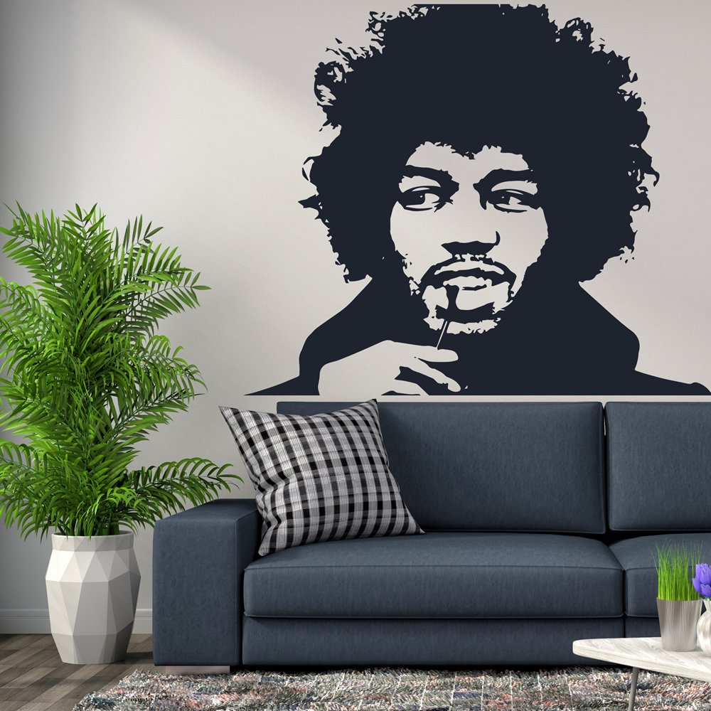 Jimi Hendrix Wall Art Iconic Wall Sticker