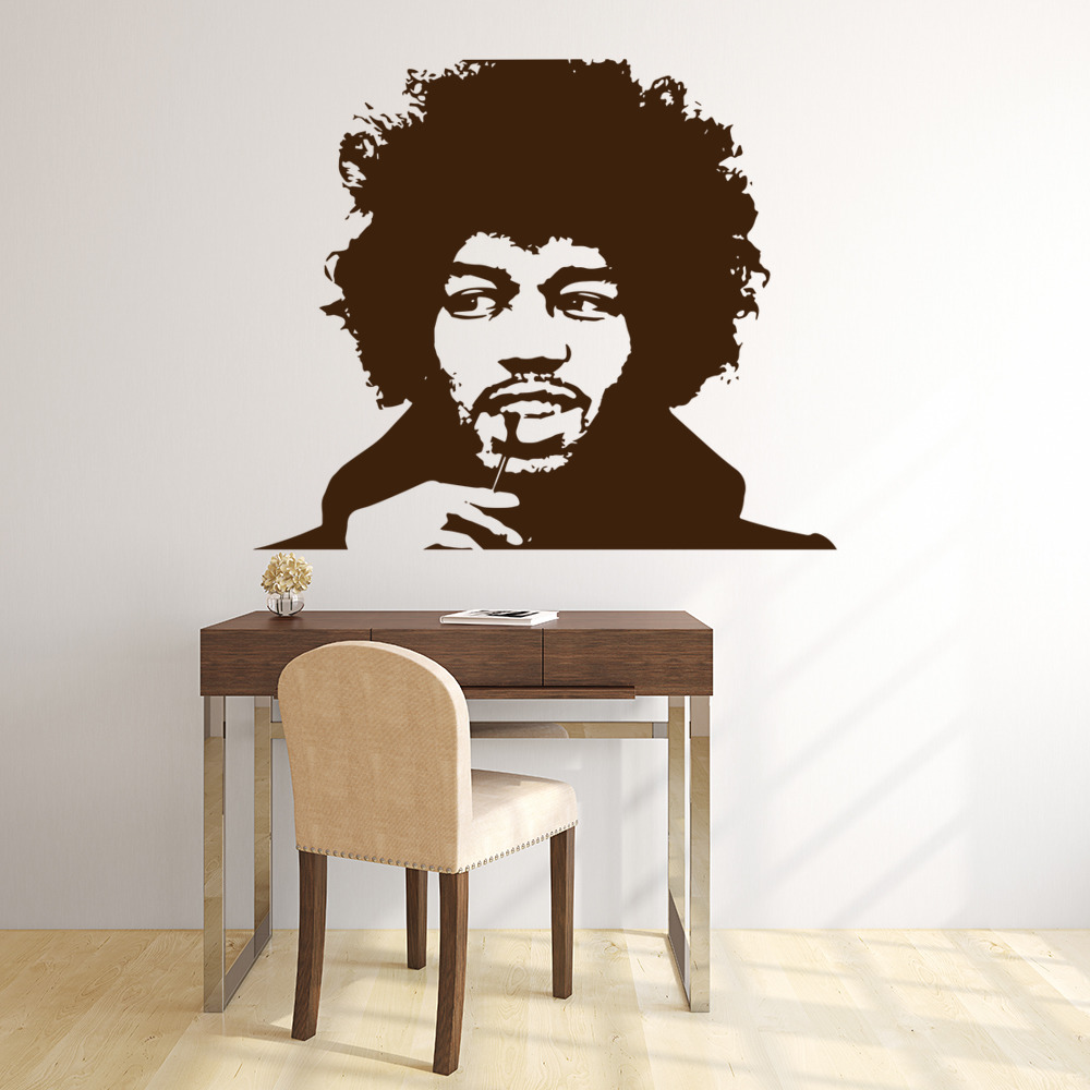 Jimi Hendrix Musician Icons & Celebrities Wall Stickers Home Decor Art Decals