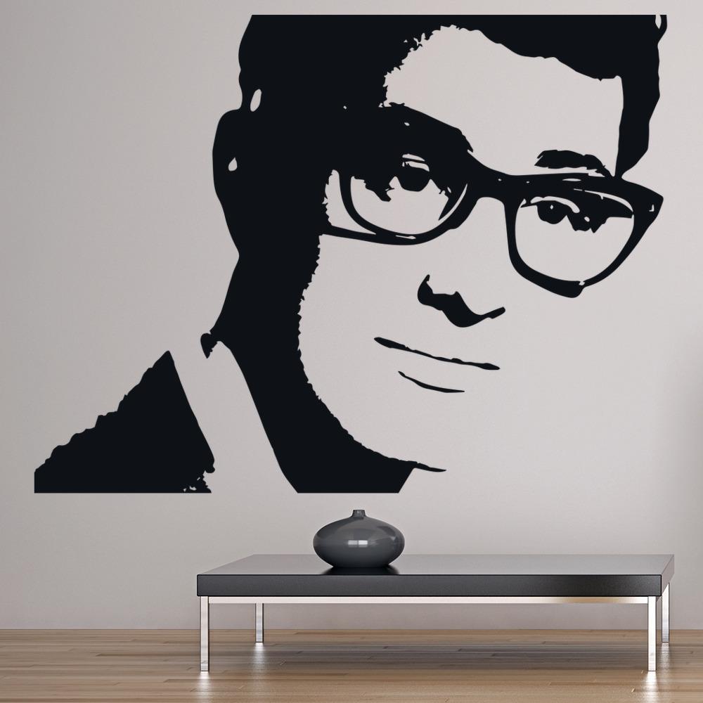 Buddy Holly Wall Art Iconic Wall Sticker