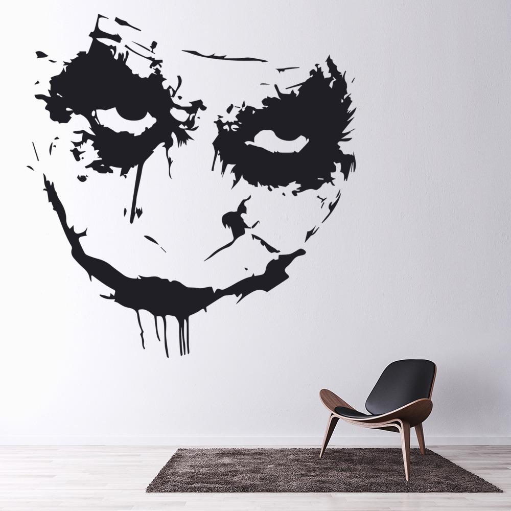 The Joker Heath Ledger Wall Art Iconic Wall Stickers