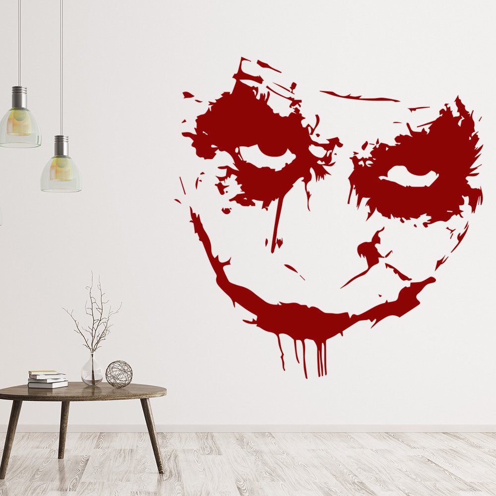 The Joker Batman Heath Ledger Icons & Celebrities Wall Stickers Home Art Decals