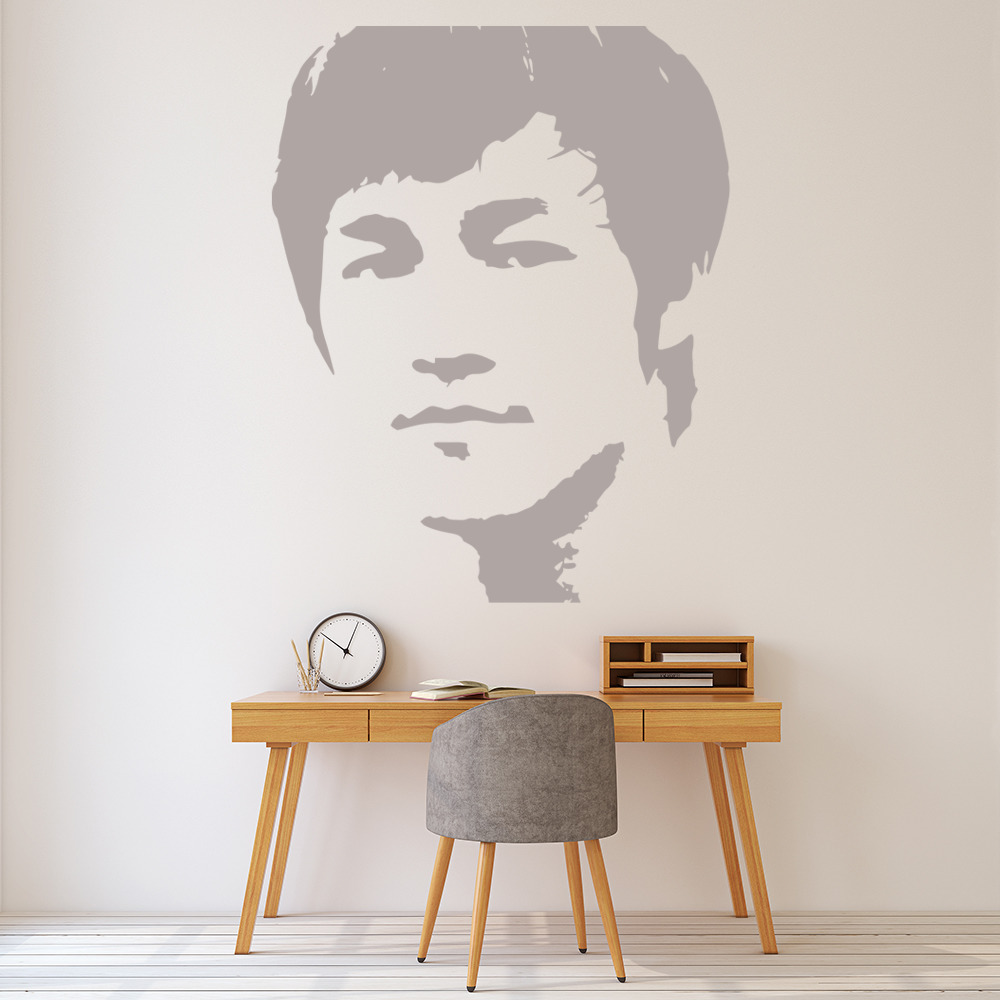 Bruce Lee Face Profile Icons & Celebrities Wall Stickers Home Decor Art Decals