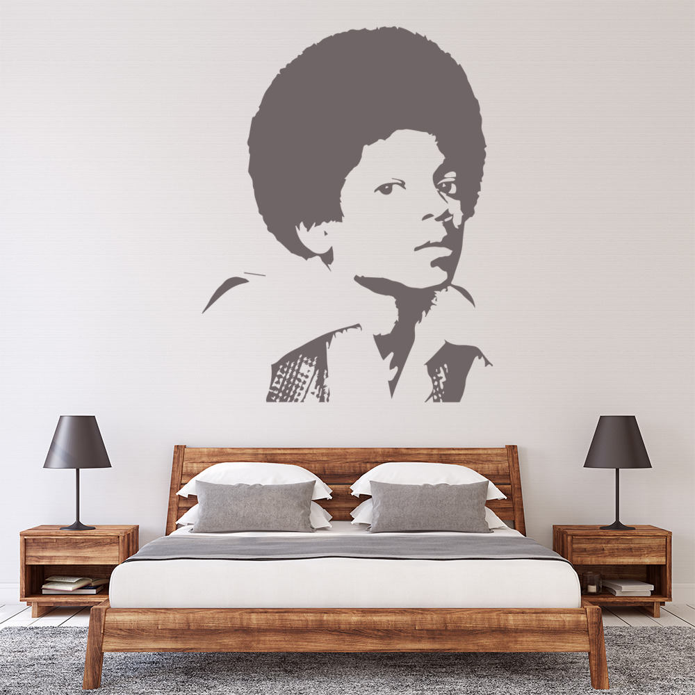 young michael jackson wall art iconic wall sticker michael jackson and art words nature vinyl wall paper decal