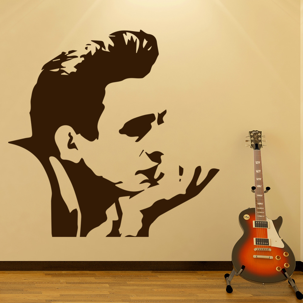 Johnny Cash Wall Art Iconic Wall Sticker