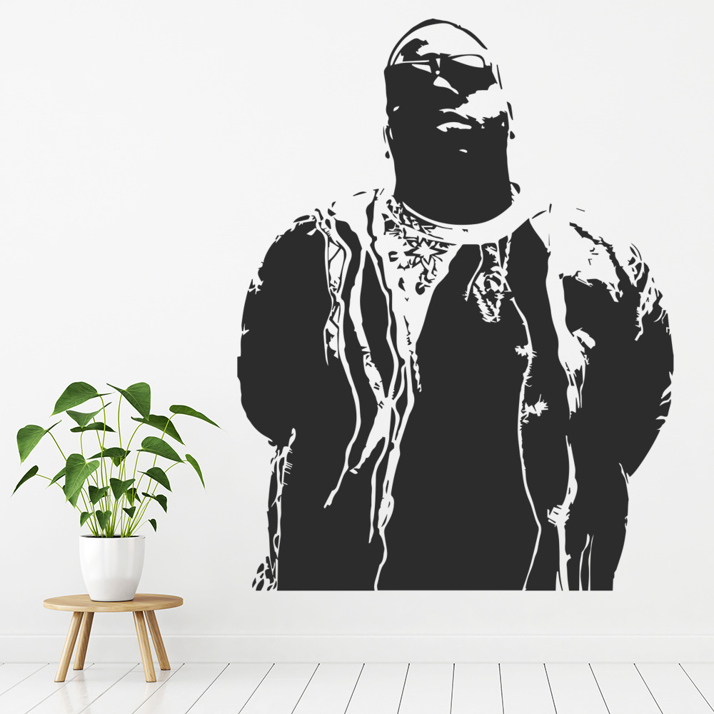 Notorious BIG Rapper Music Icons & Celebrities Wall Sticker Home Decor Art Decal