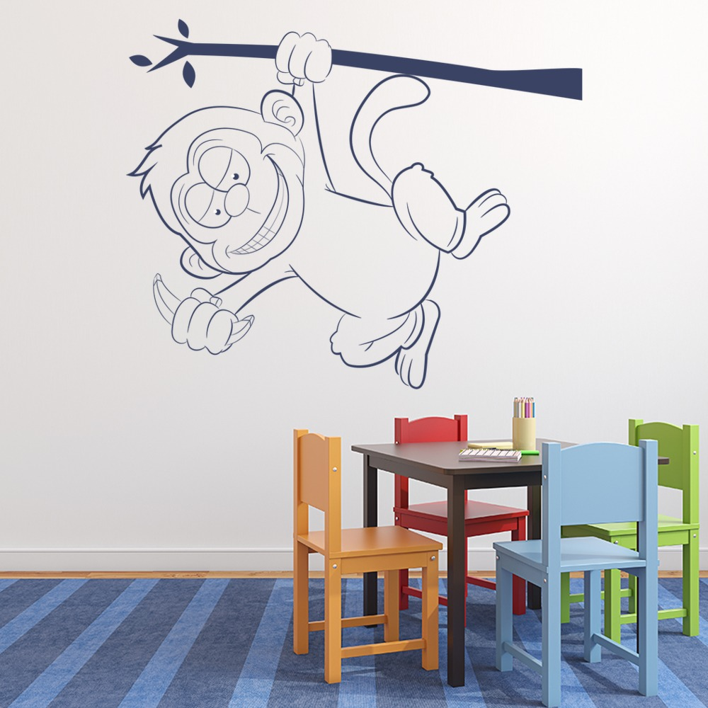 Monkey Hanging Wall Art Monkey Wall Stickers