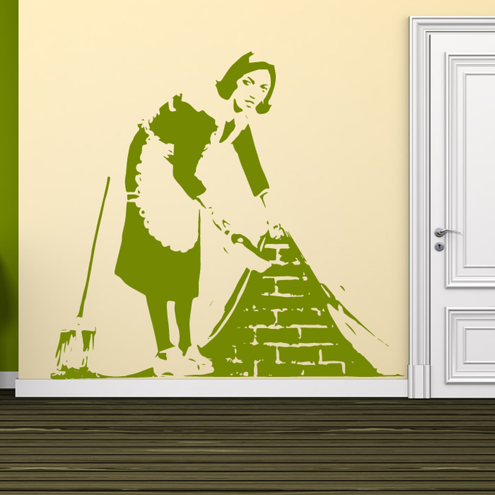 Brushed Under Carpet Banksy Graffiti Street Art Wall Sticker Decor Art Decals