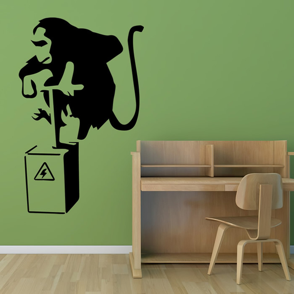 Monkey Dynamite Banksy Style Wall Art Grafitti Wall Stickers