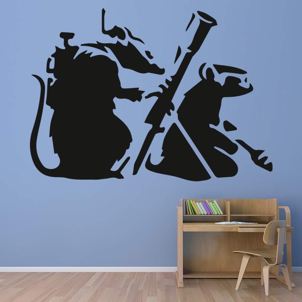 Rat Commandos Banksy Style Wall Art Grafitti Wall Sticker