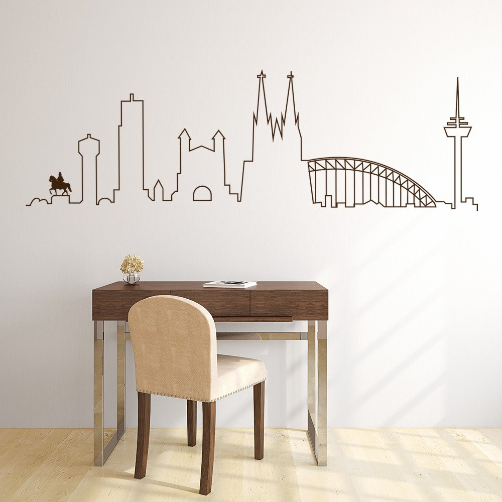Cologne Skyline Wall Art Skyline Wall Sticker