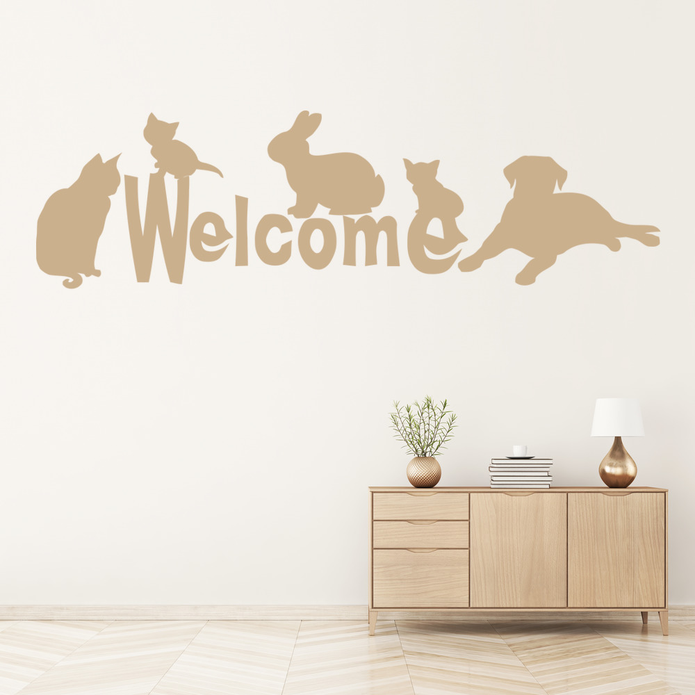 Animal Welcome Wall Art Wall Stickers