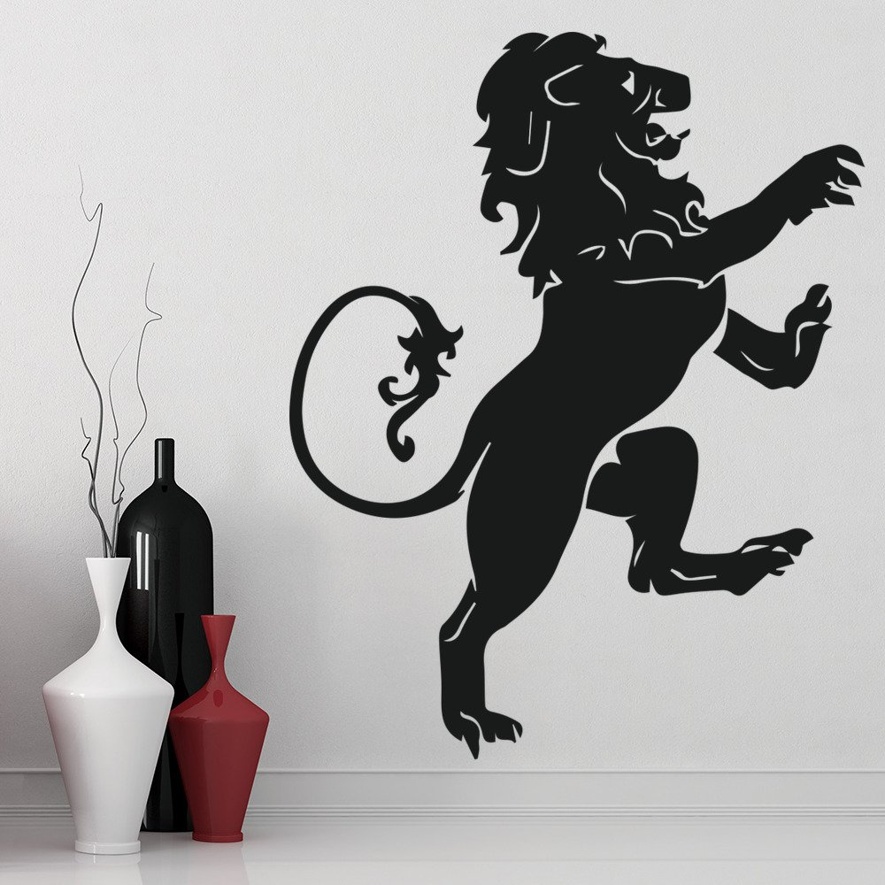 Heraldic Lion Royal Emblem Wild Animals Wall Stickers Home Decor Art Decals