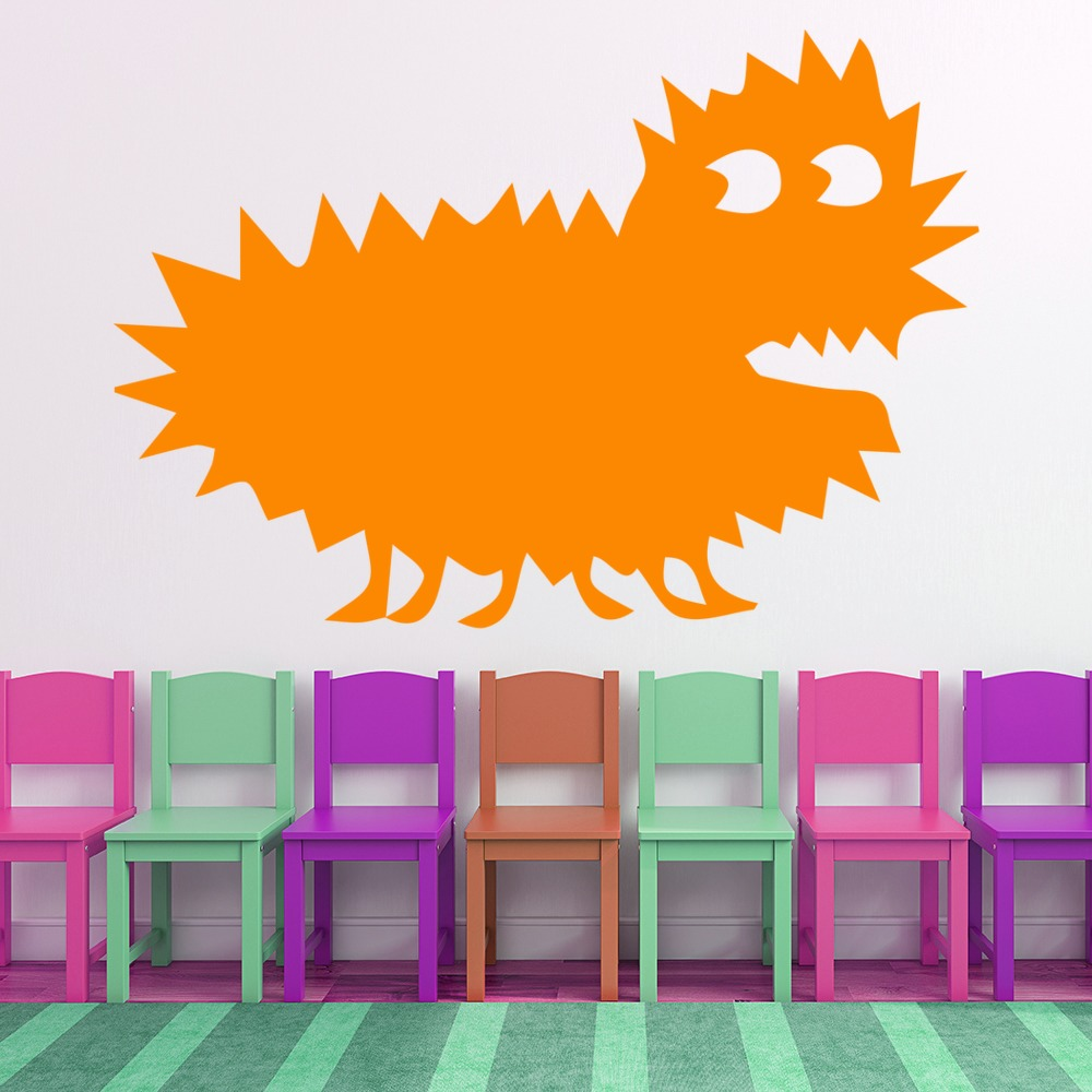 Small Spike Monster Scary Funny Monster Wall Stickers Childrens Decor Art Decals