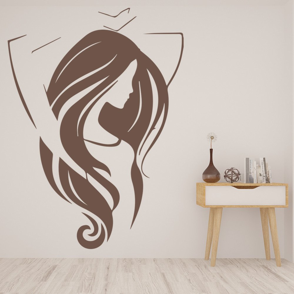 Women Stretching Yoga Gymnastics Dancing Wall Stickers Gym Sports Art Decals