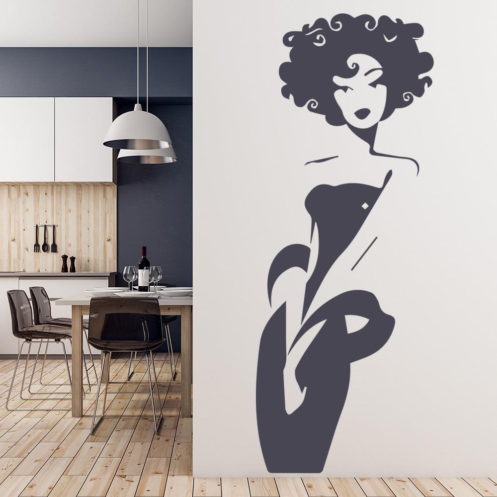 Elegant Woman Wall Stickers Female Wall Art