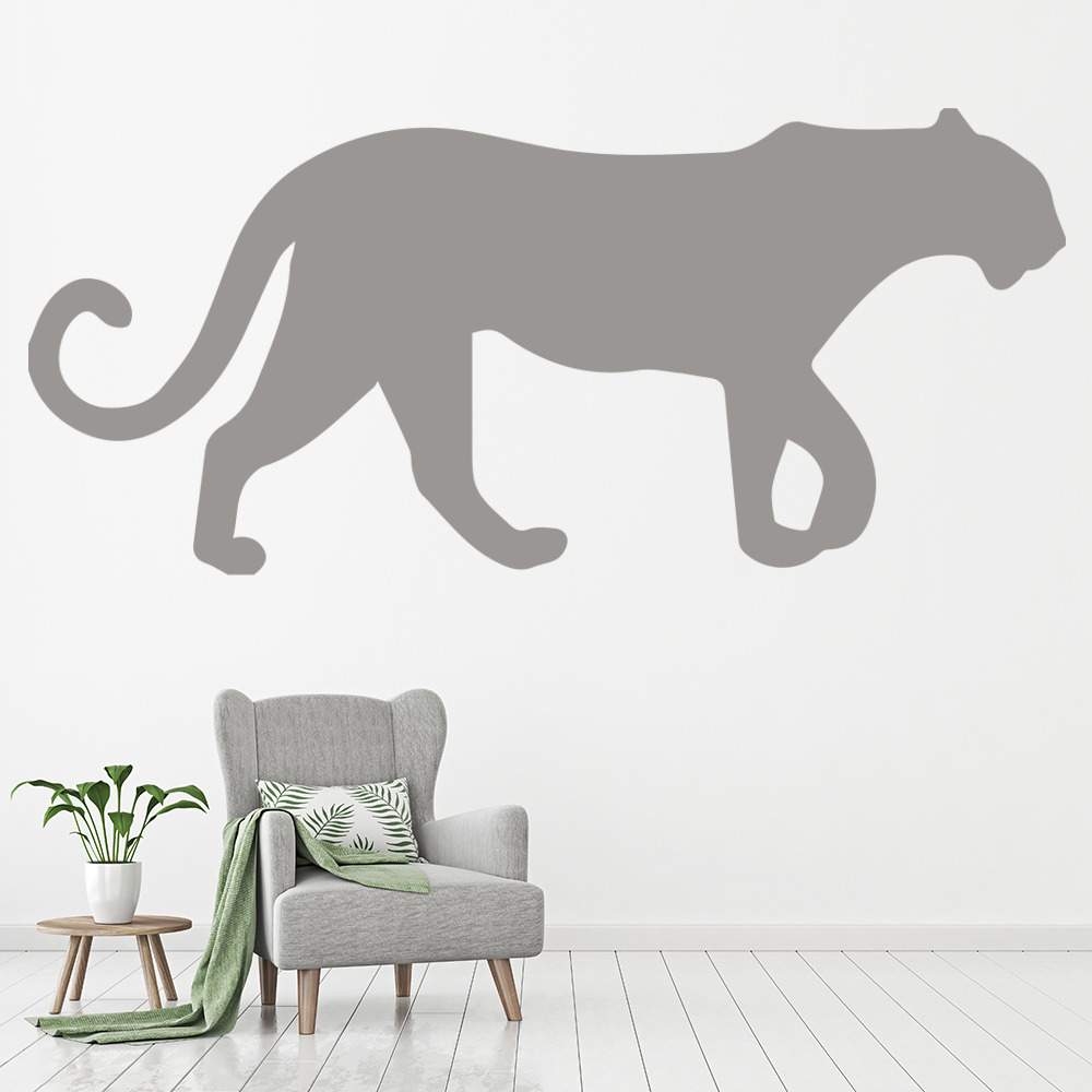 Panther Silhouette Big Cat Wild Animals Wall Stickers Home Decor Art Decals