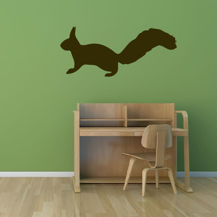 Squirrel Simple Silhouette Wild Animals Wall Stickers Home Decor Art Decals