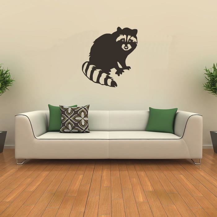 Raccoon Profile American Wildlife Wild Animals Wall Sticker Home Decor Art Decal