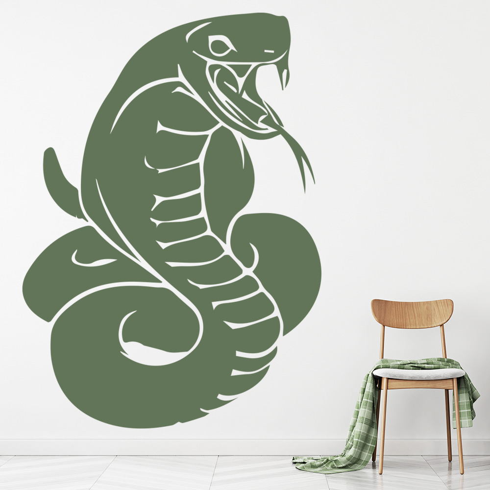 Hissing Cobra Snake Serpent Wild Animals Wall Stickers Home Decor Art Decals