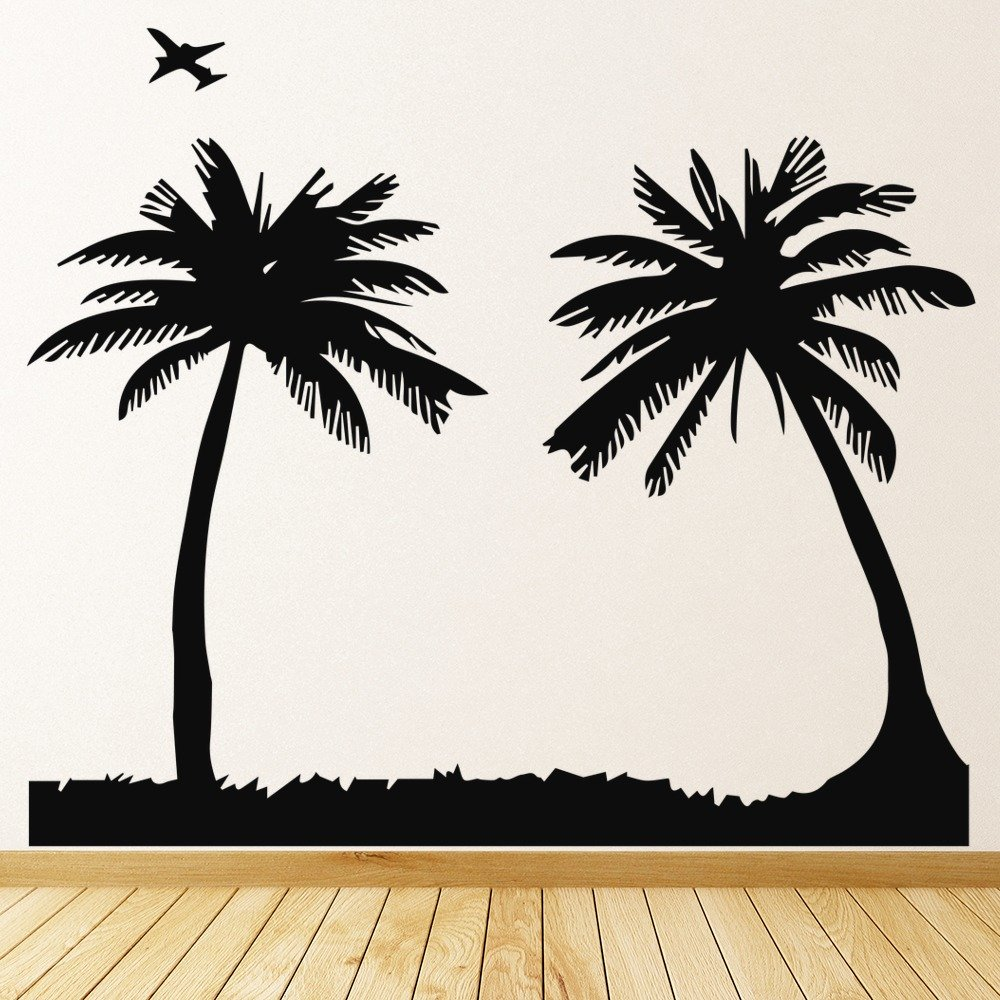 Sunbathing Silhouette Wall Sticker Beach Wall Art