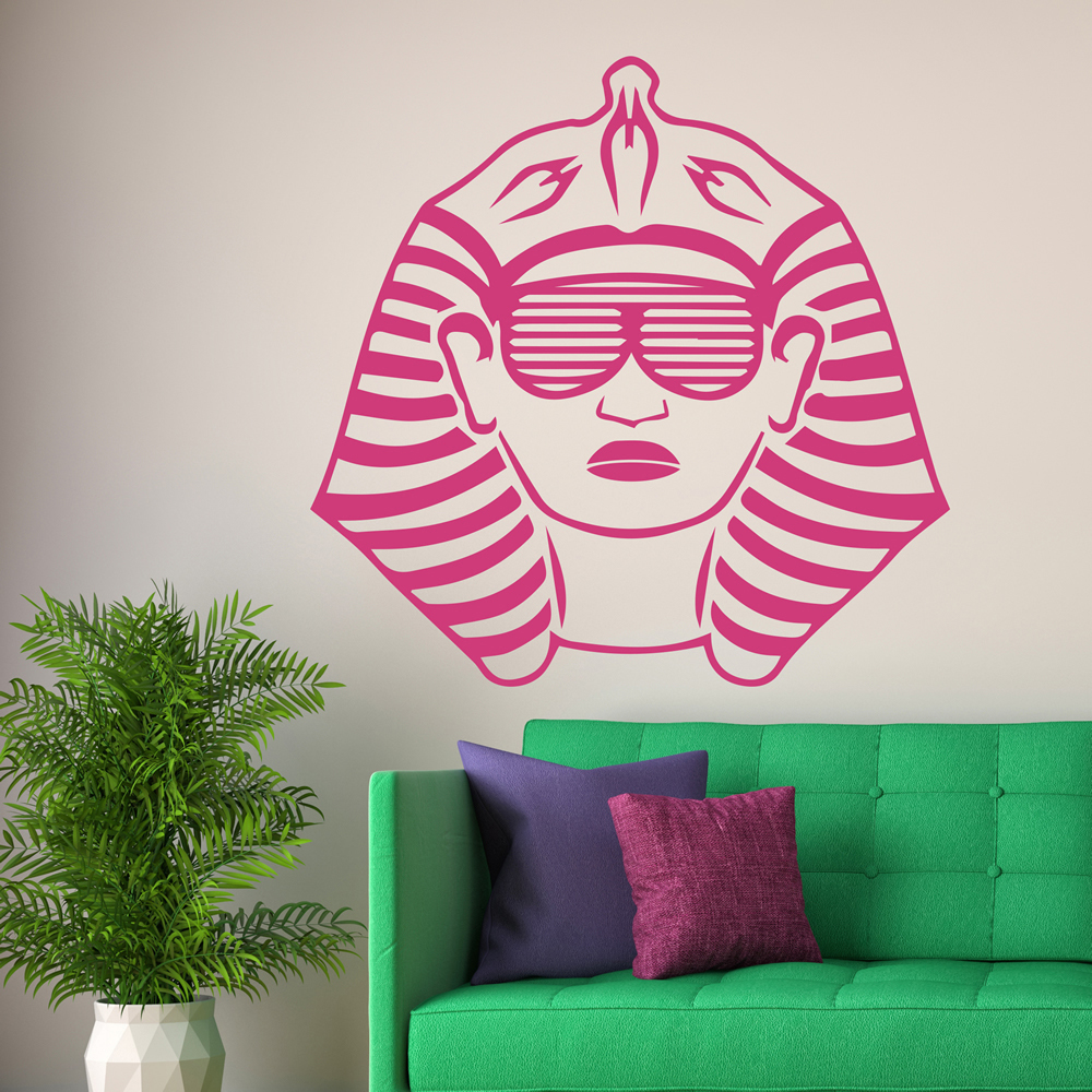 Pharaoh With Sunglasses Egypt Rest of the World Wall Stickers Home Art Decals