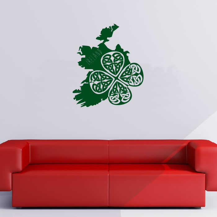 ireland silhouette wall sticker country wall art ireland wall mural contemporary wall stickers