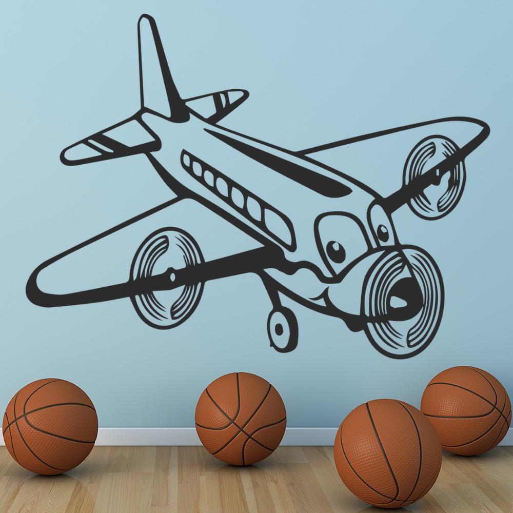 cartoon airplane wall sticker children s wall art