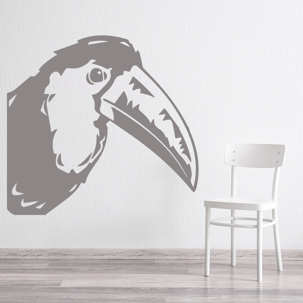 Toucan Head Profile Birds & Feathers Wall Stickers Home Decor Art Decals