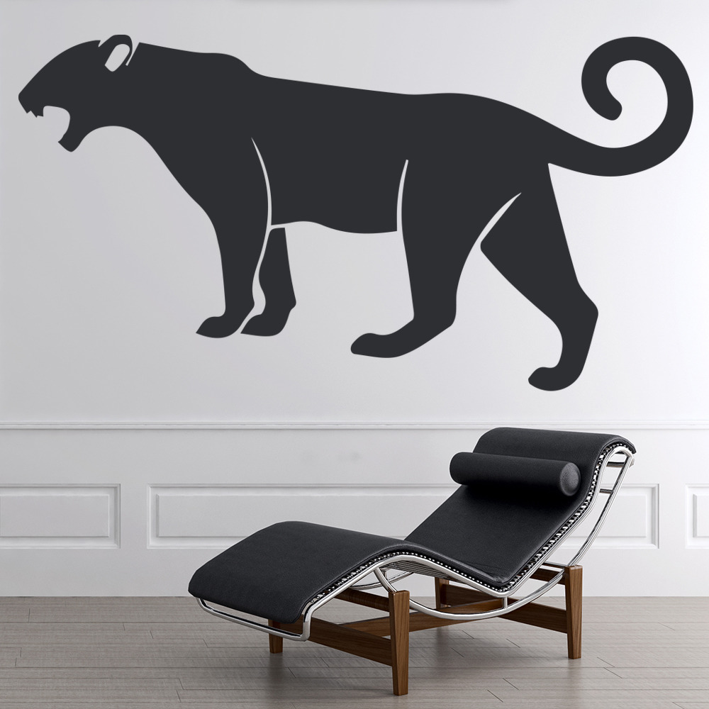 Panther Roaring Jungle Big Cat Wild Animals Wall Stickers Home Decor Art Decals