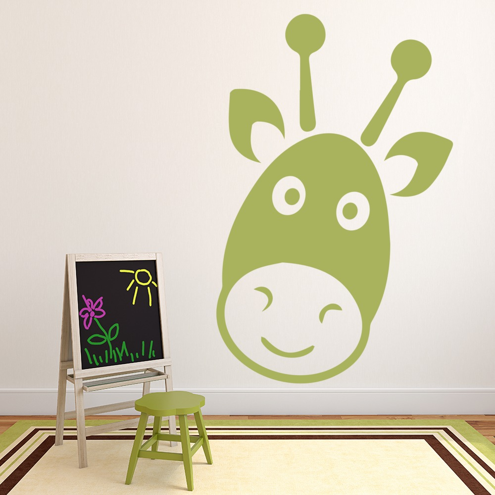 Gazelle Cartoon Kids Animals Nursery & Baby Wall Stickers Home Decor Art Decals