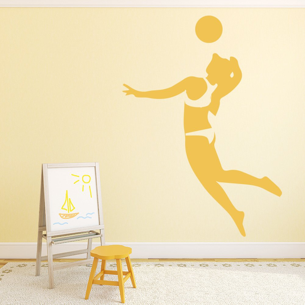 Volleyball Player Silhouette Volleyball Wall Stickers Sport Decor Art Decals