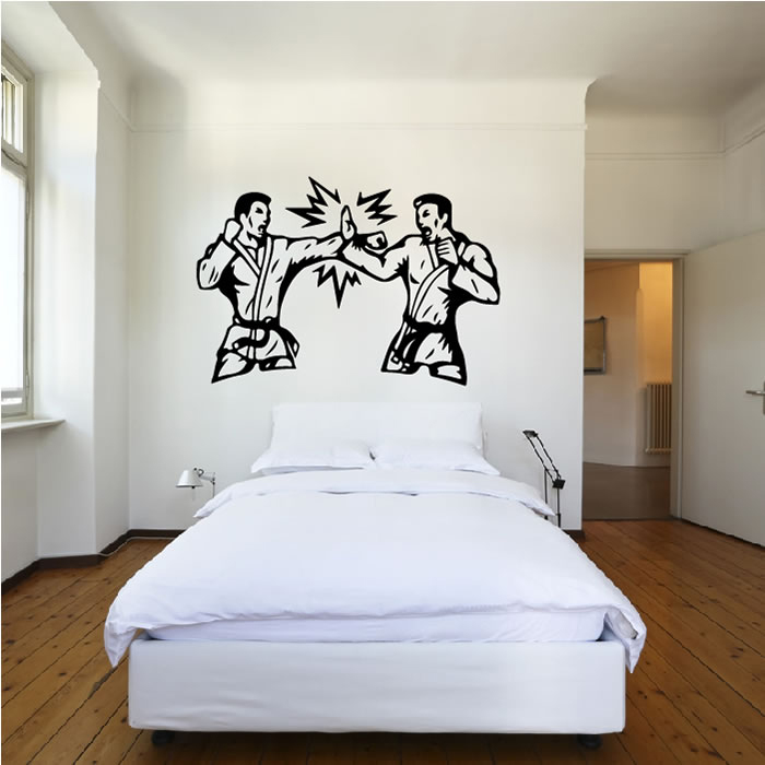 Karate Dual Wall Sticker Martial Arts Wall Art