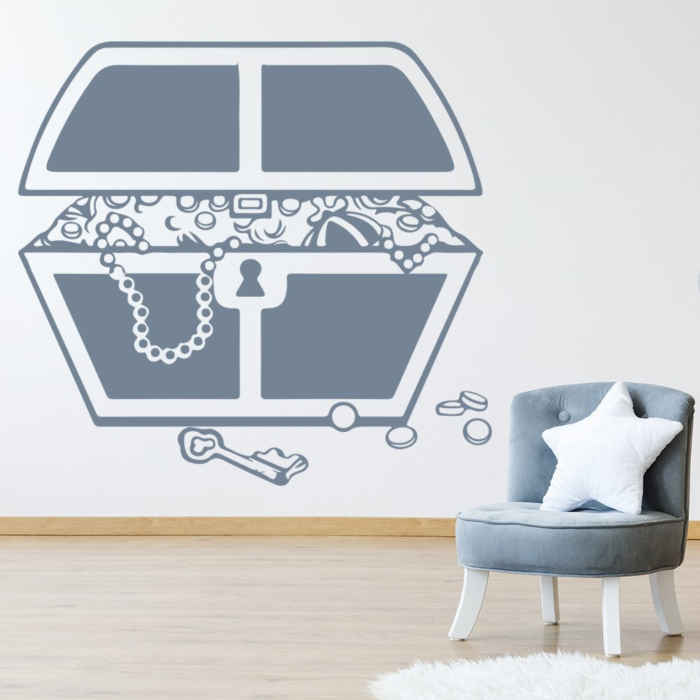 Treasure Chest Jewels Coins Pirates Wall Stickers Childrens Decor Art Decals