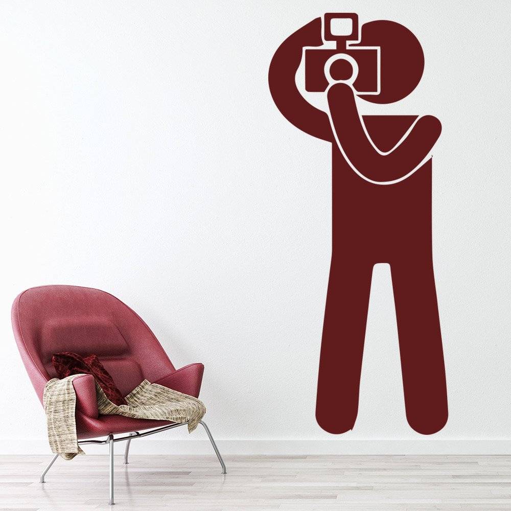 Stickman Photographer Paparazzi People And Faces Wall Stickers Home Art Decals