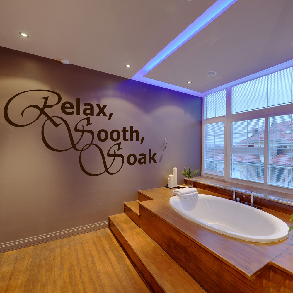 Relax Sooth Soak Wall Sticker Bathroom Wall Art