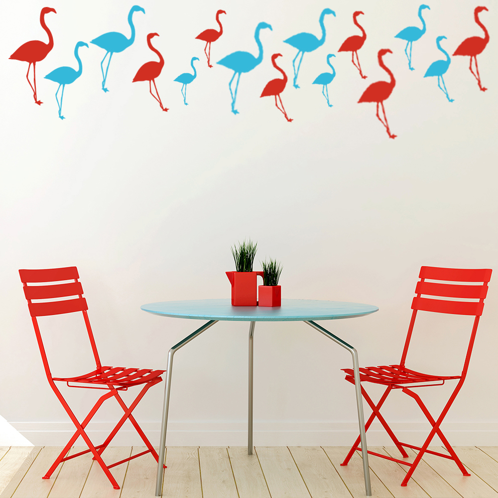 Flamingo Birds & Feathers Creative Multipack Wall Stickers Home Decor Art Decals