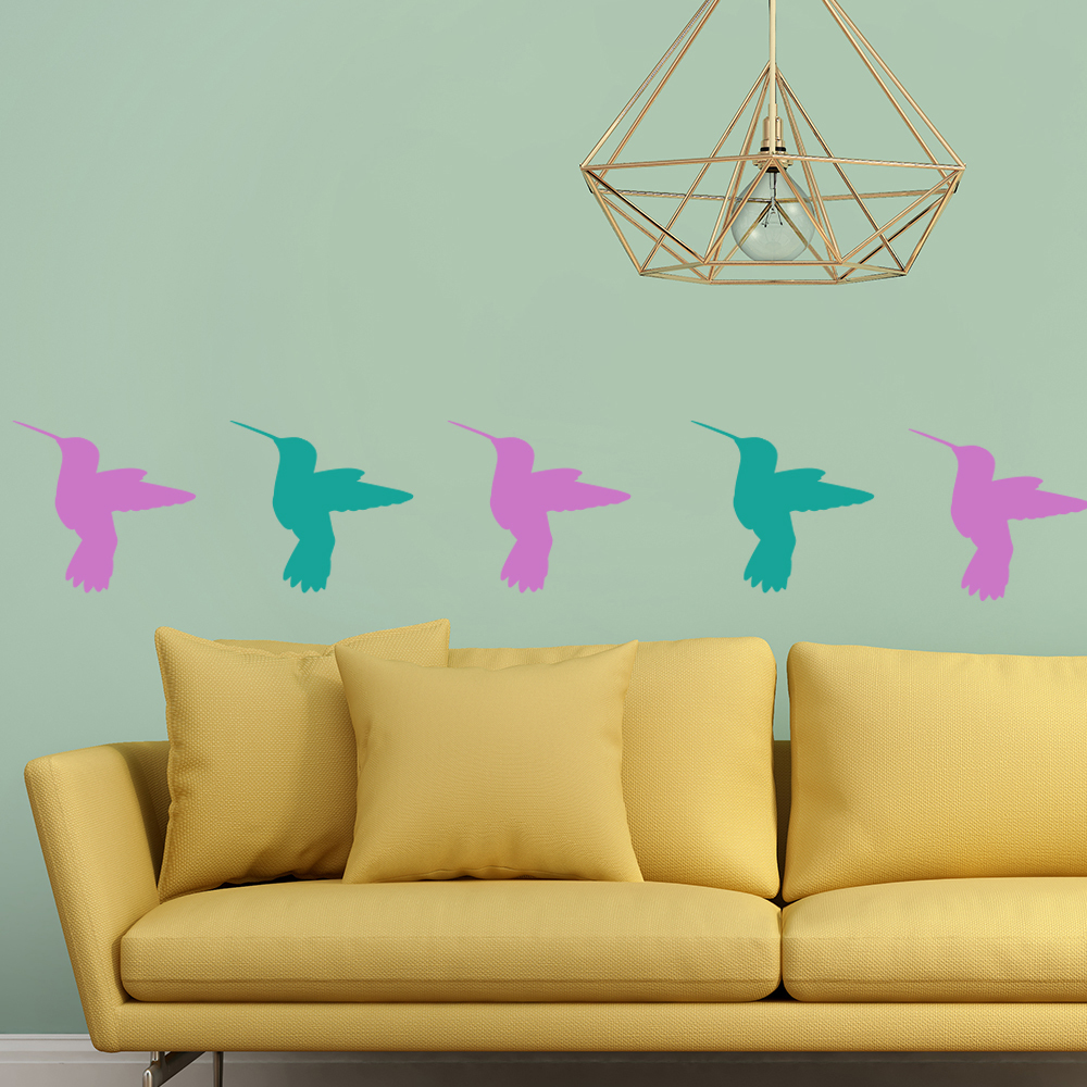 Humming Bird Silhouette Wall Sticker Creative Multi Pack Wall Decal Art