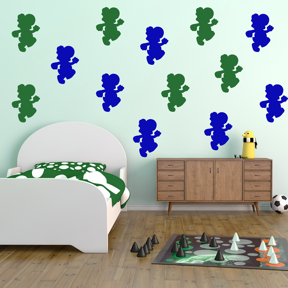 Yoshi Gaming & Entertainment Creative Multipack Wall Stickers Home Art Decals