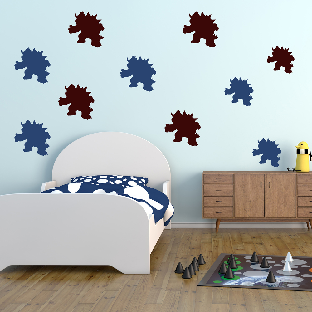 Bowser Super Mario Gaming & Entertainment Creative Multipack Wall Sticker Decal
